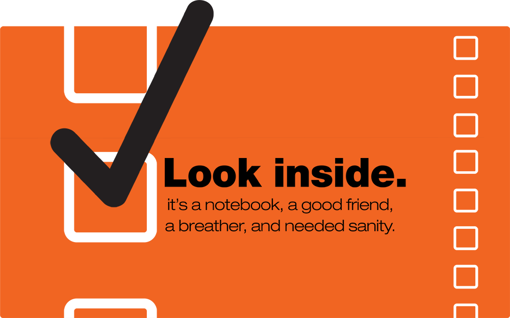 Look Inside - The Patient's Checklist is a notebook, a good friend, a breather, and needed sanity.