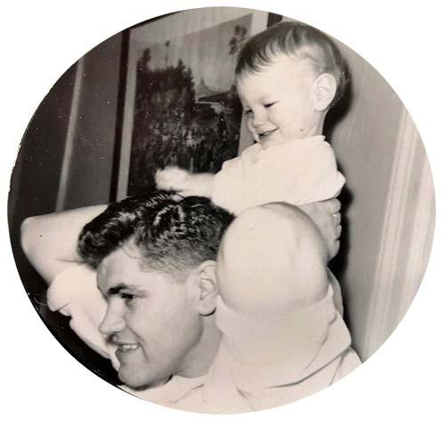 Elizabeth with her Dad
